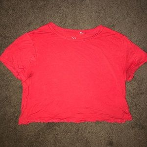 Pacsun red crop top